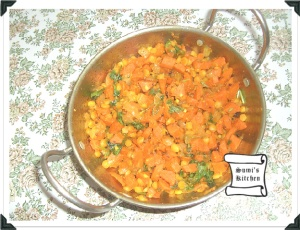 Carrot channa dal fry