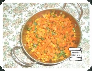 Carrot channa dal fry