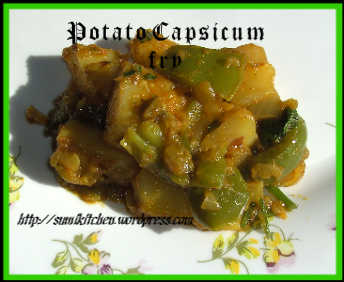 Potato capsicum fry